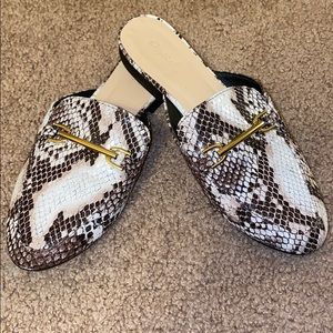 Gently used Snakeskin Mules